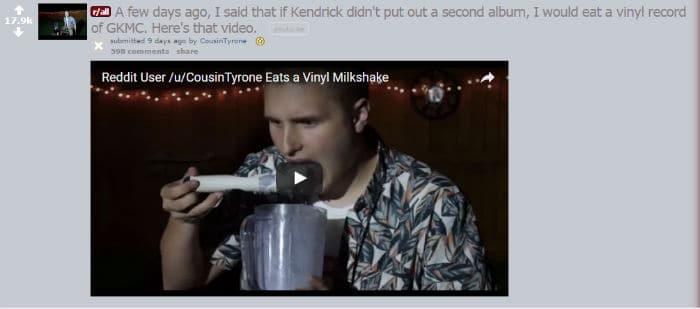 vinyl milkshake
