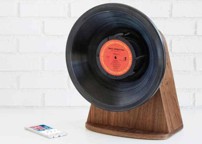 vinyl speaker made from old records
