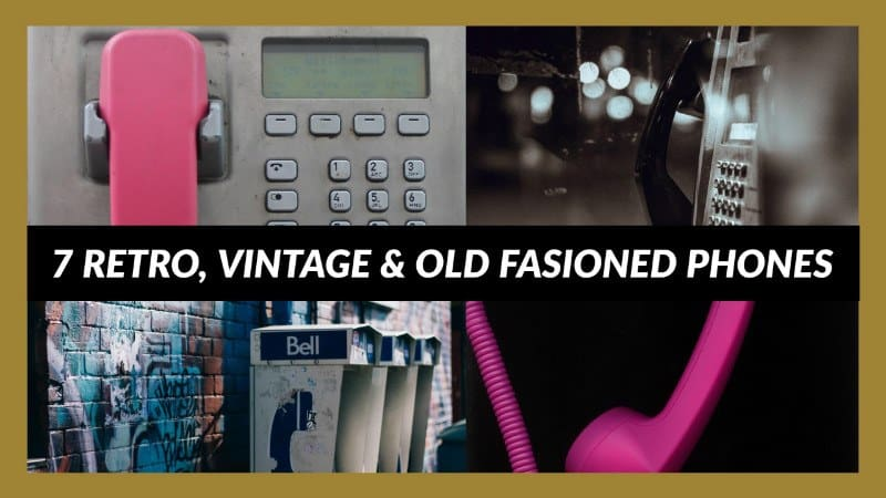 7 Retro, Vintage & Old Fasioned Phones From Crosley & Other Brands